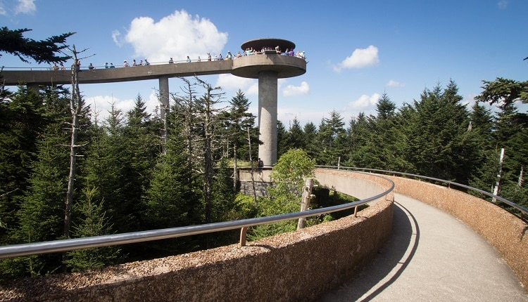 Clingmans Dome - Highest Point in Smoky Mountains National Park