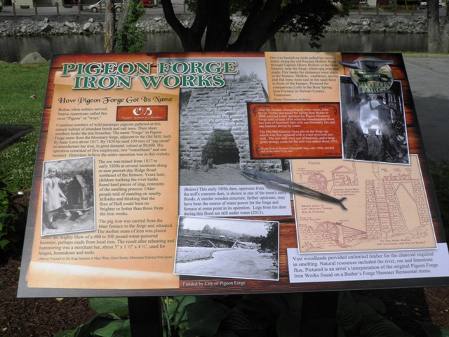 Pigeon Forge Iron Works Historical Marker