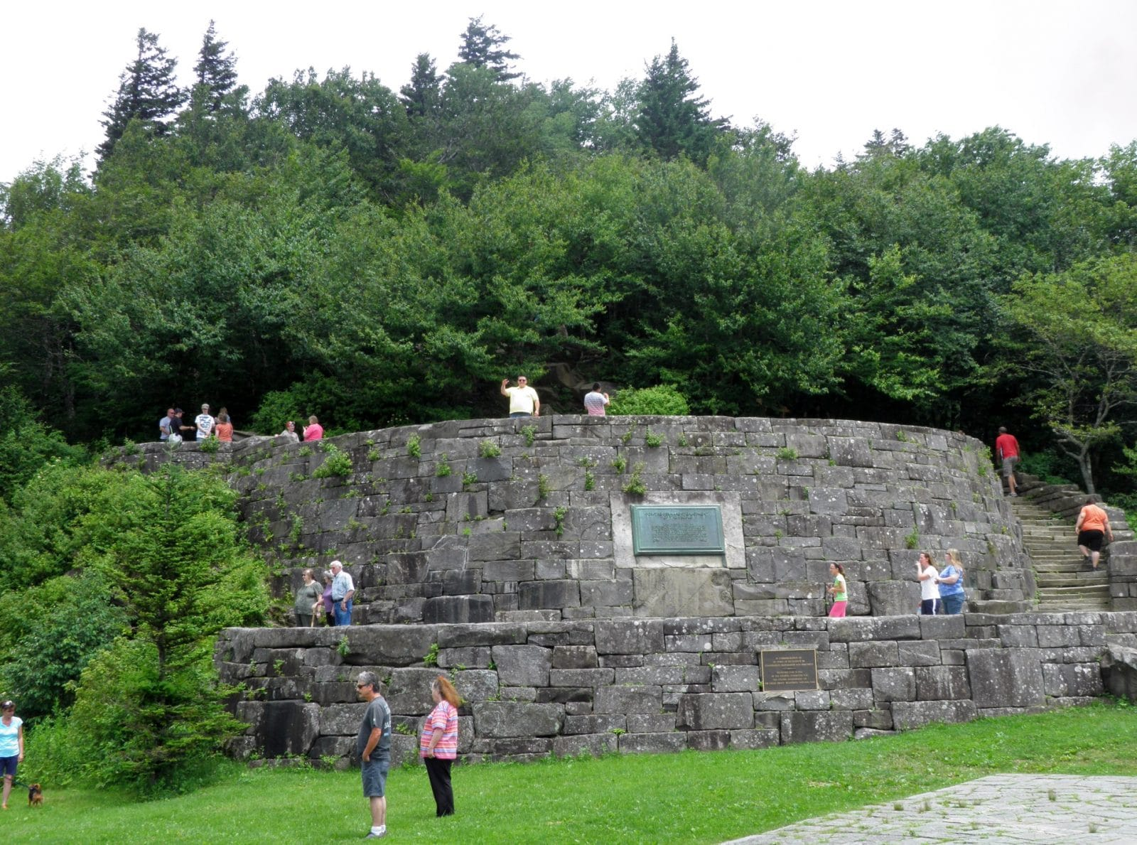 Rockefeller Monument in Great Smoky Mountains National Park