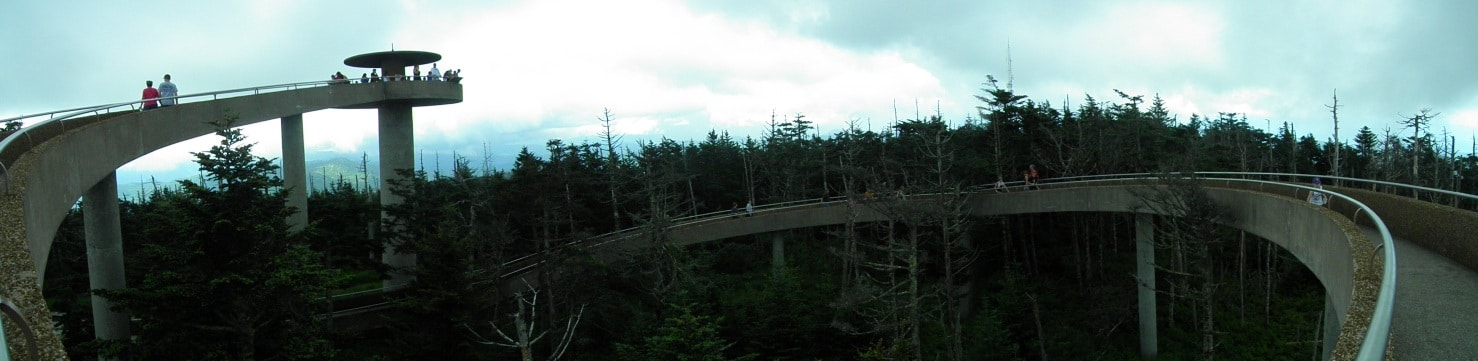 Clingmans Dome Observation Tower Panorama