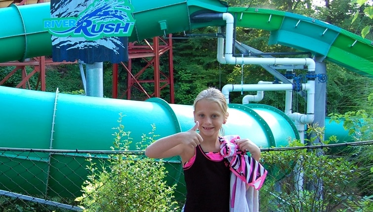 Kendall at Dollywood's Splash Country in Pigeon Forge TN