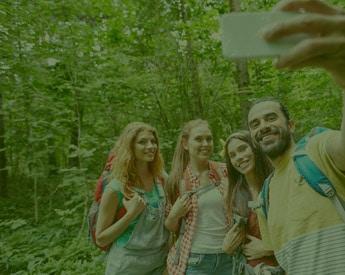 hiking-selfie