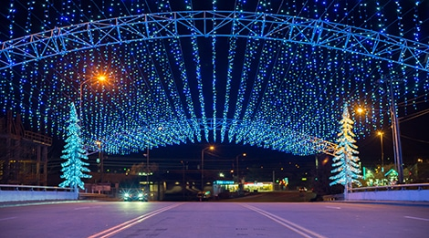 smoky mountain winterfest celebration in pigeon forge tennessee