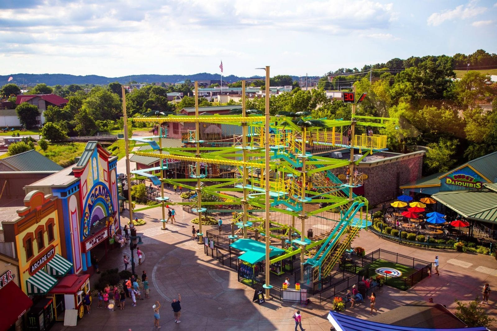 The Island Ropes Course Zip Line In Pigeon Forge Tn