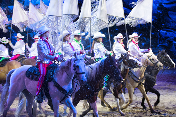 Horses and Riders at Christmas at Dolly Parton's Stampede