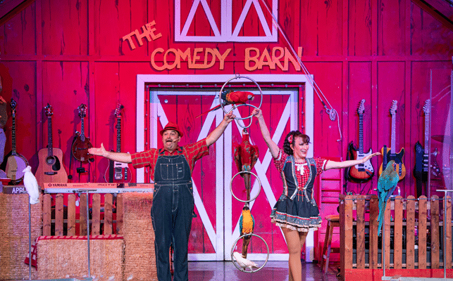 Birds Act at Comedy Barn Theater in Pigeon Forge TN