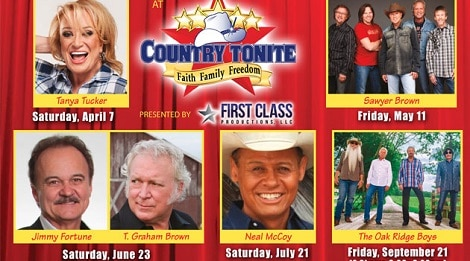 Celebrity Concert Series at Country Tonite in Pigeon Forge