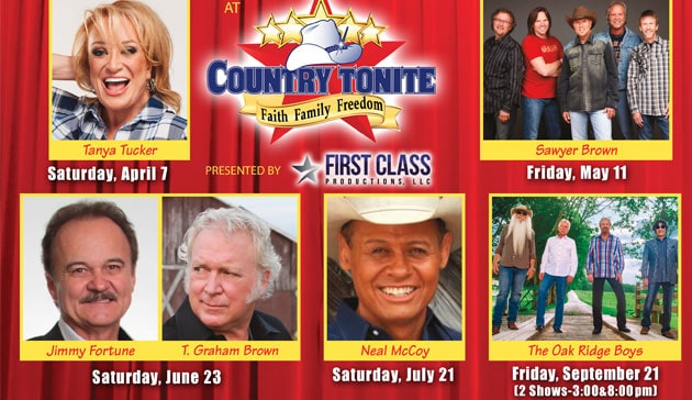 First Class Celebrity Concerts at Country Tonite Theatre