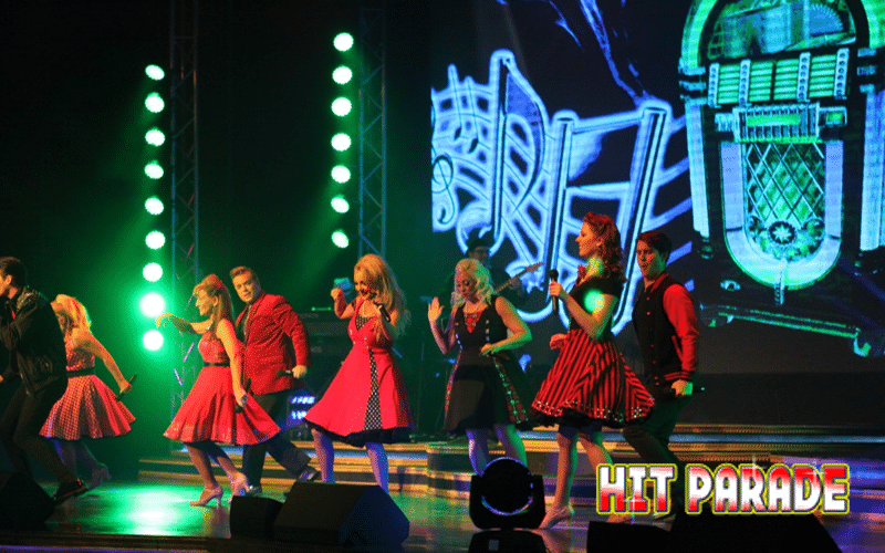 Group of Performers at Hit Parade - Grand Majestic Theater in Pigeon Forge, TN
