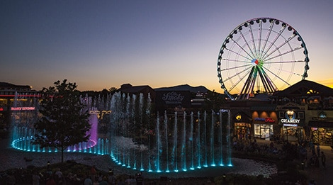 The Island in Pigeon Forge sunset