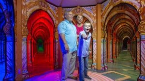 Family Photo at Hannah's Maze of Mirrors in Pigeon Forge TN