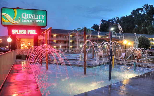 Splash Pool at Quality Inn and Suites at Dollywood Lane
