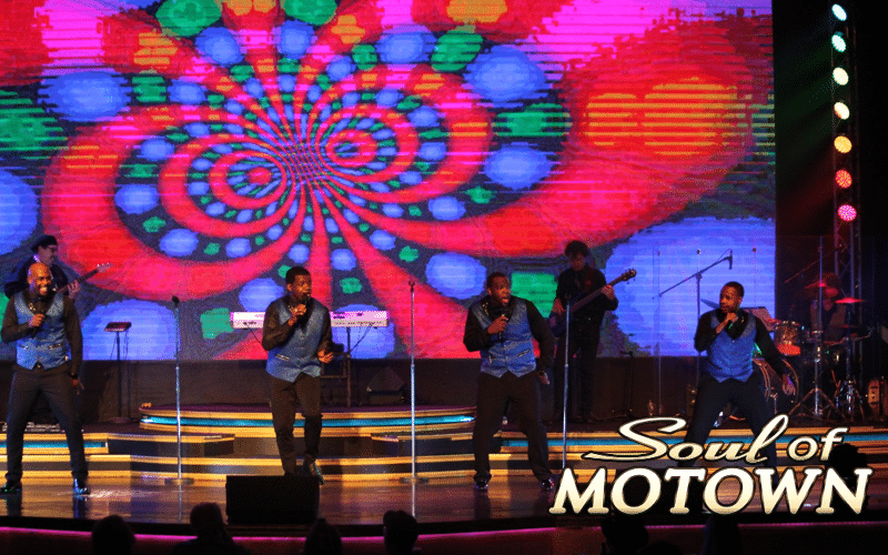 Stage performers at Soul of Motown - Grand Majestic Theater in Pigeon Forge, TN