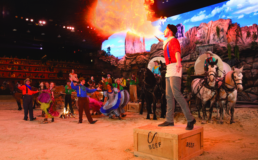 Fire Breather at Dolly Parton's Stampede