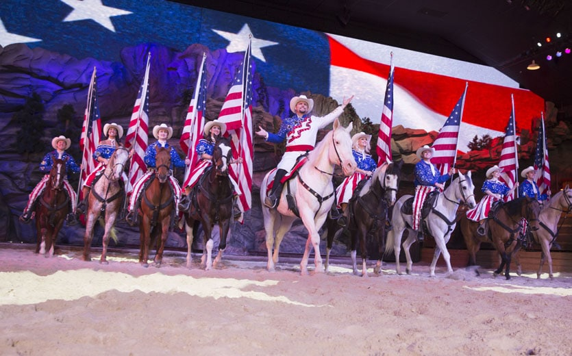 Horses and Riders at Dolly Parton's Stampede