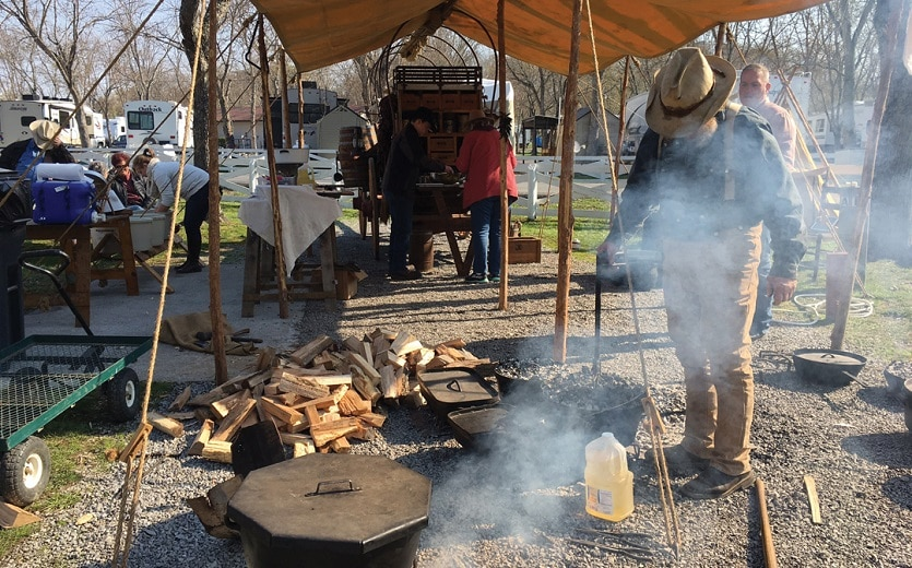 Pigeon Forge Chuck Wagon Cookoff Competition at Clabough's Campground