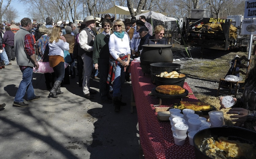 Pigeon Forge Chuck Wagon Cookoff lunch