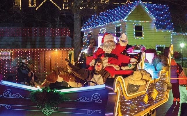 Santa at Dollywood's Smoky Mountain Christmas