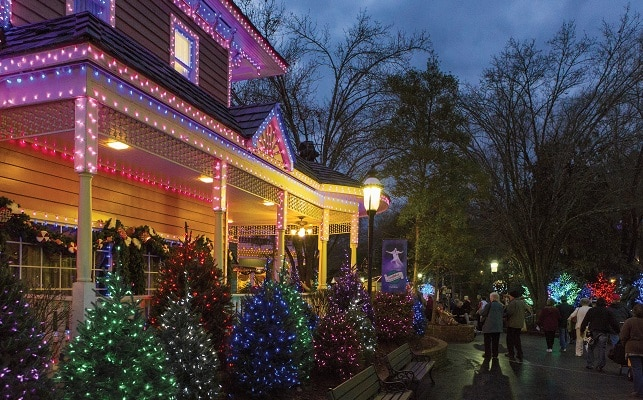 Families at Dollywood's Smoky Mountain Christmas