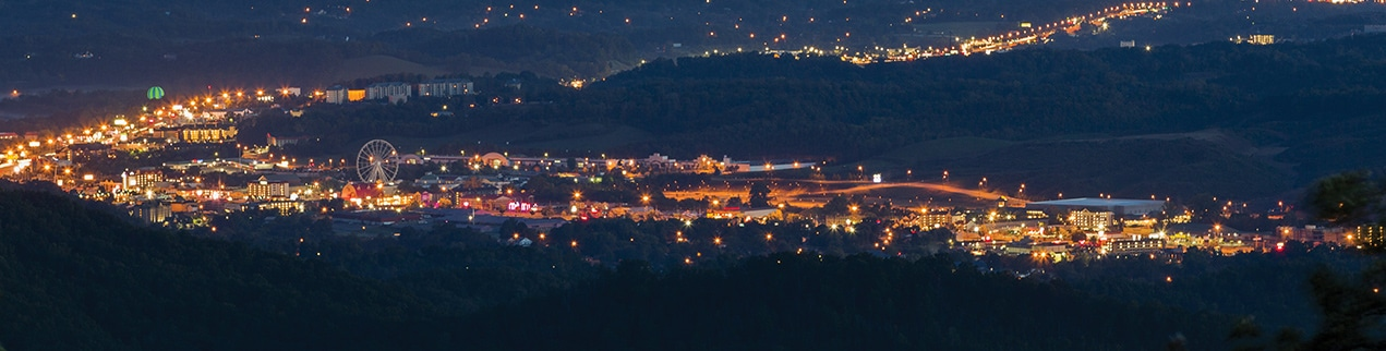 Pigeon Forge Tennessee at Night
