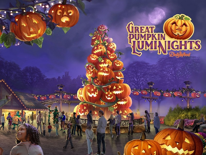 great pumpkin luminights dollywood festival pigeon forge