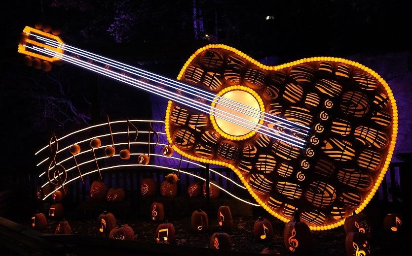 Guitar Display at Great Pumpkin LumiNights