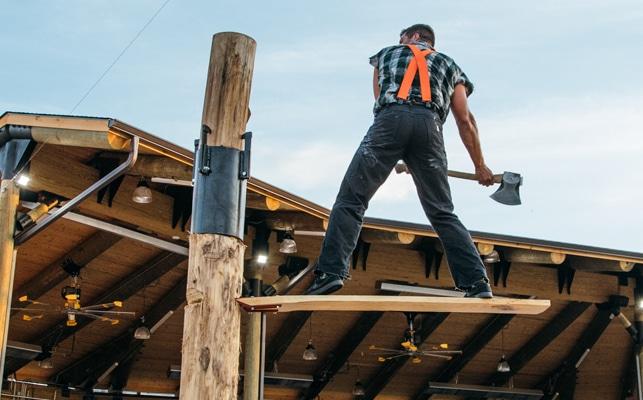 Paula Deens Lumberjack Feud lumberjack action
