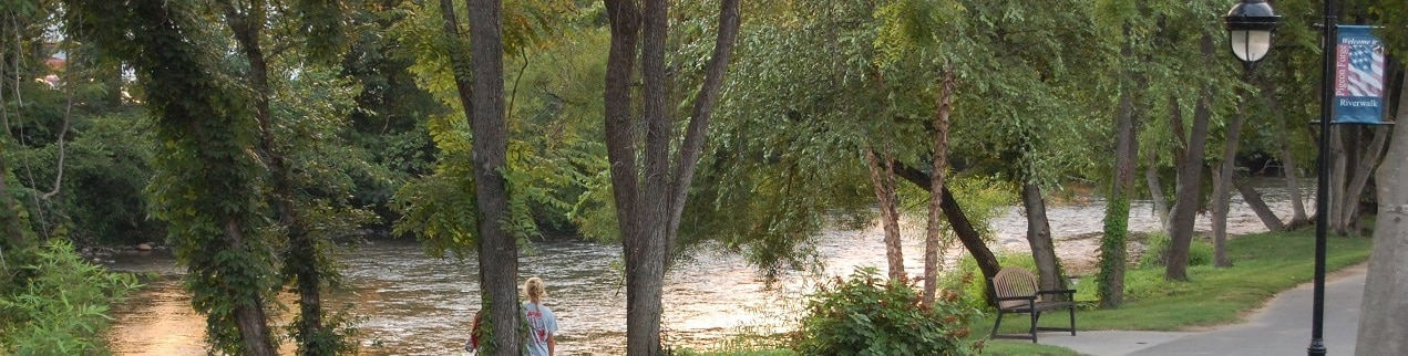 Little Pigeon River in Pigeon Forge, Tennessee