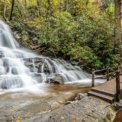 Laurel Falls - Waterfall Hikes in the Smoky Mountains