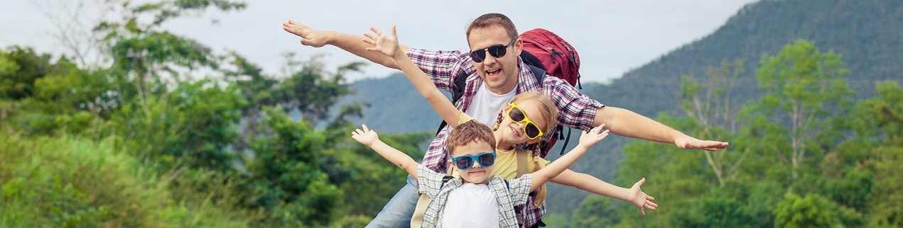 Dad and Kids on Vacation