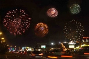fireworks display at pigeon forge patriot festival