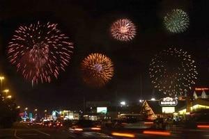 fireworks display at pigeon forge patriot festival