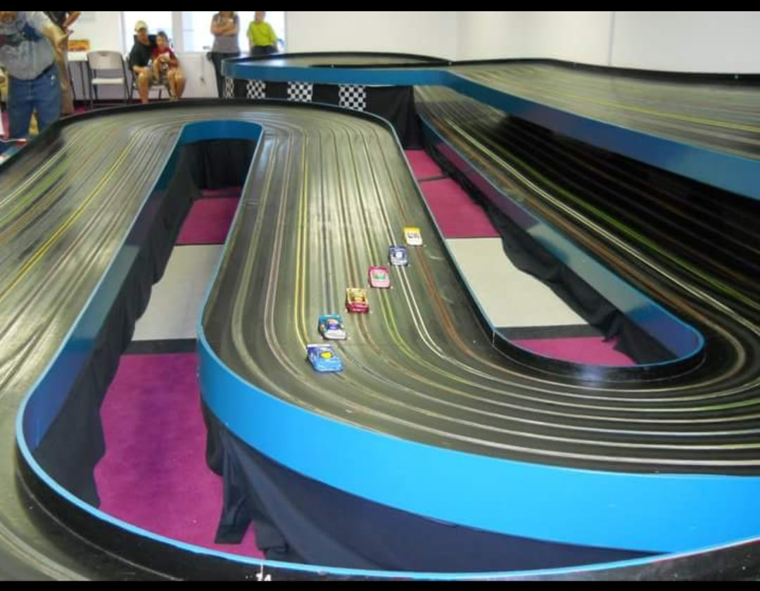 checkered flag slot car racing in pigeon forge