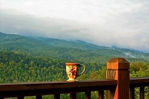 Smoky Mountain cabin relaxing