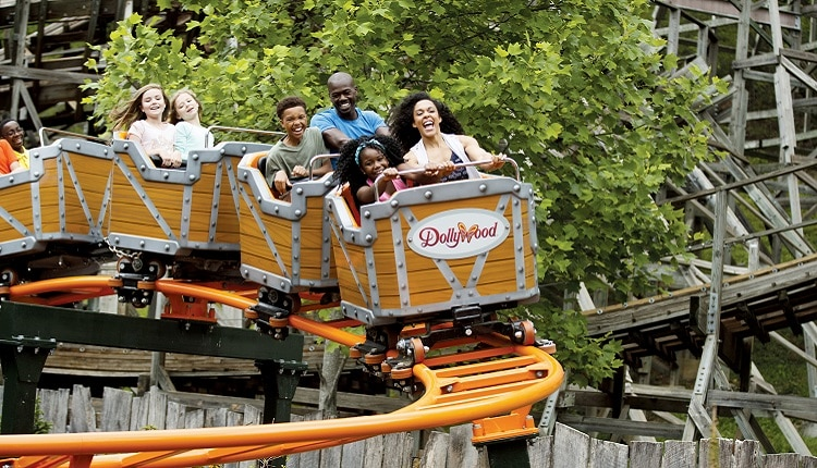 Rides at Dollywood in Pigeon Forge TN