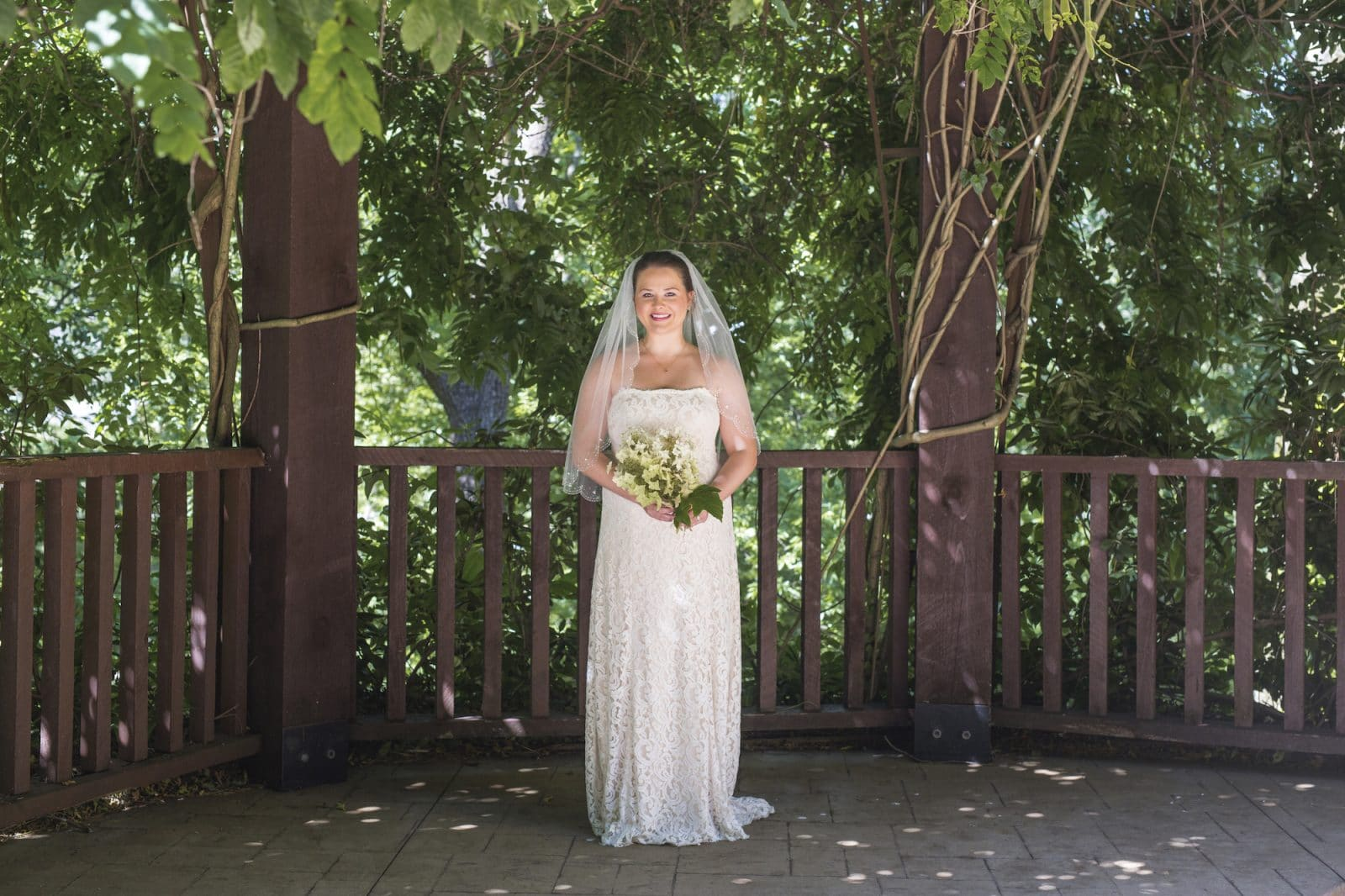 Bride at Outdoor Wedding in Pigeon Forge