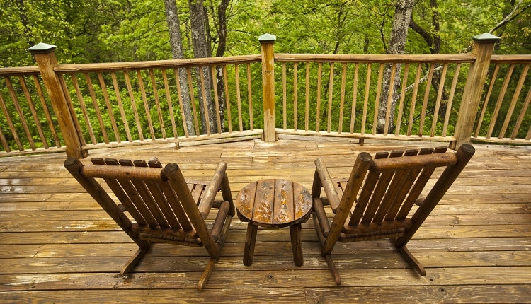Outdoor Wedding at Cabin in Pigeon Forge Tennessee