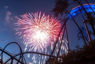 Fireworks Display at Dollywood's Summer Celebration