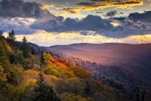 Fall Foliage in Pigeon Forge and Smoky Mountains