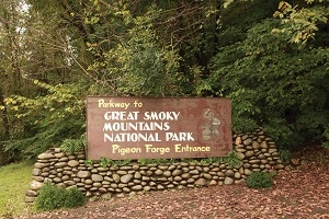Pigeon Forge Entrance to Great Smoky Mountains National Park