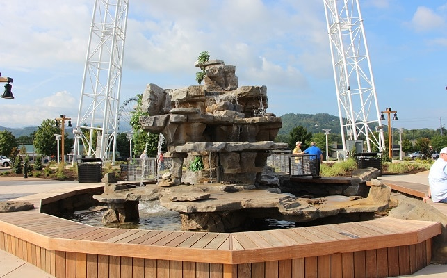 Fountain at Mountain Mile Pigeon Forge TN