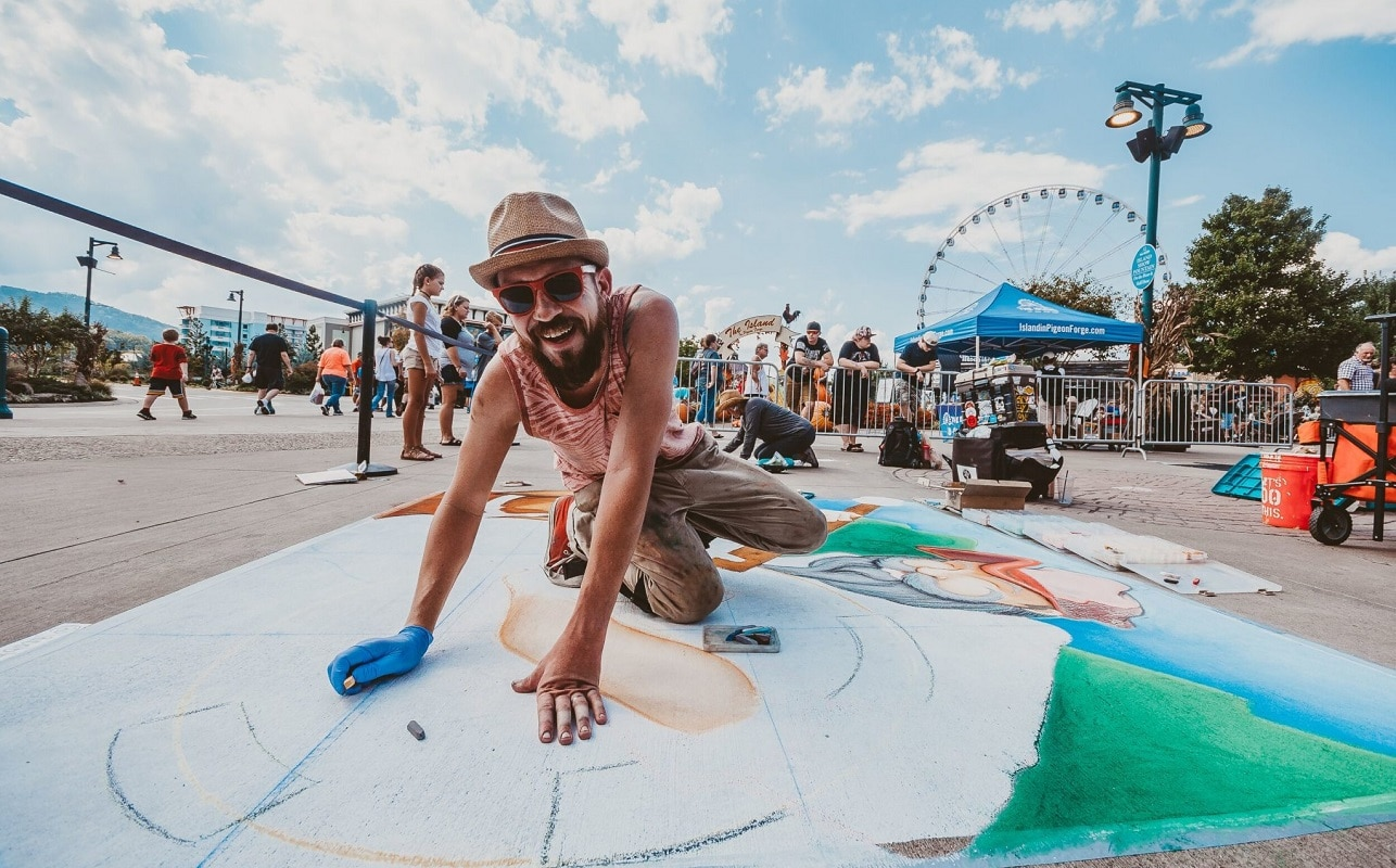 Chalkfest at The Island in Pigeon Forge