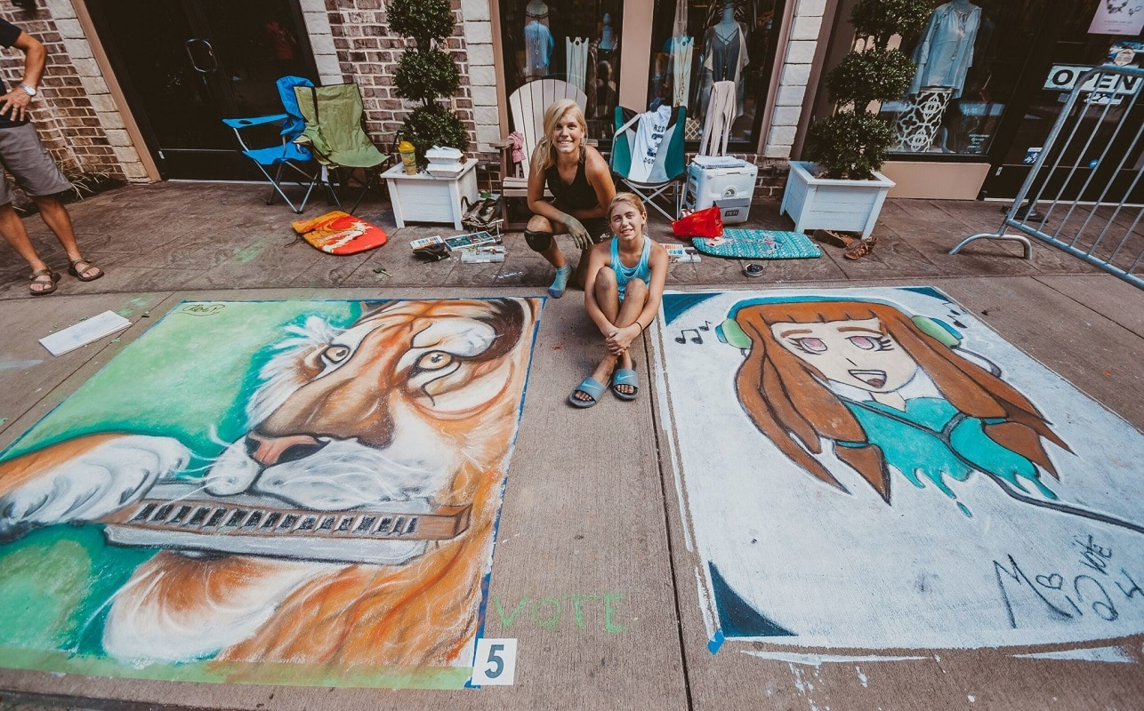 Sisters Chalkfest at The Island in Pigeon Forge
