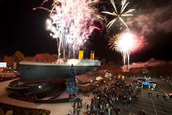 Thanksgiving Fireworks Event at Titanic Museum Pigeon Forge