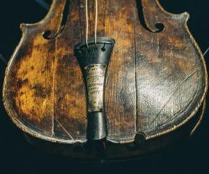 bandleader Wallace Hartley's violin at Titanic Museum