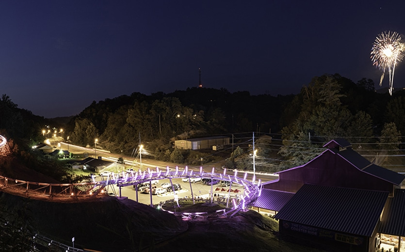 Rocky Top Coaster - Coaster at Night