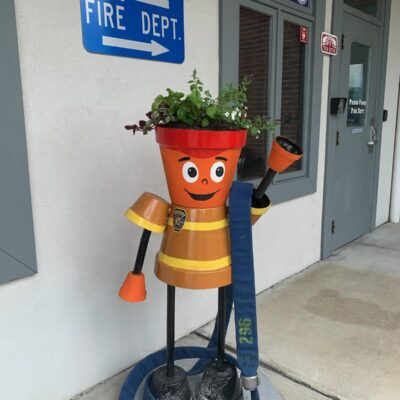 Police Fire Department Planter