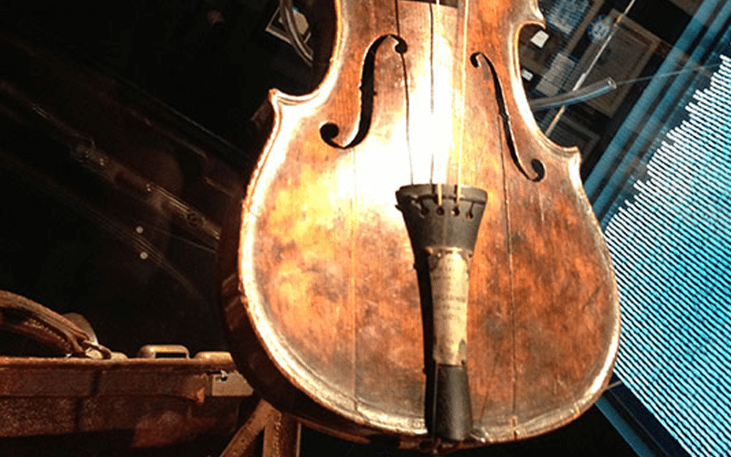 Wallace Hartley Violin on display at Titanic Museum Attraction