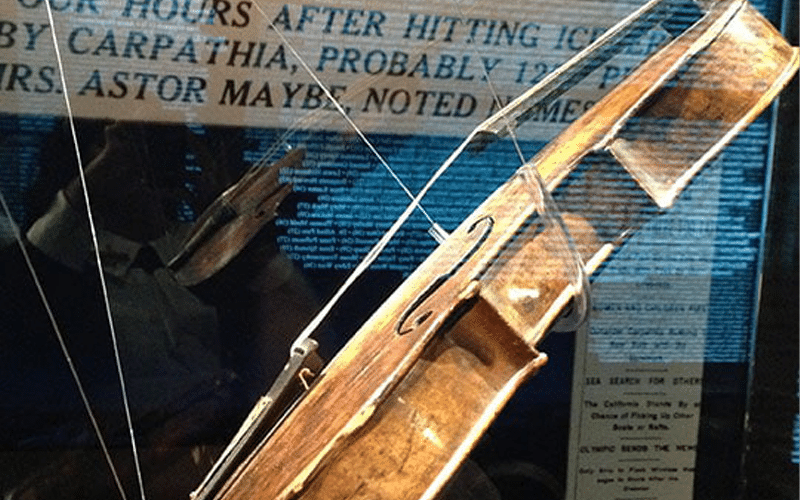 Wallace Hartley Violin on display at Titanic Museum Attraction in Pigeon Forge, TN