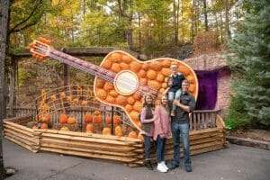 Family at Dollywood Fall Harvest Festival